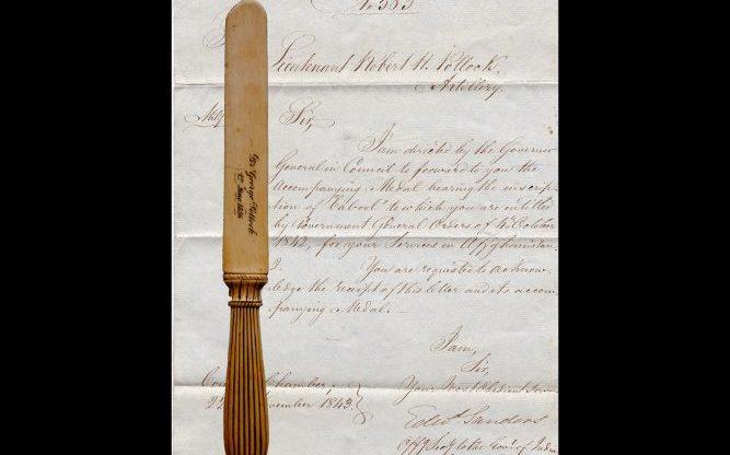 Pollock Family Letter and Ivory Letter Opener